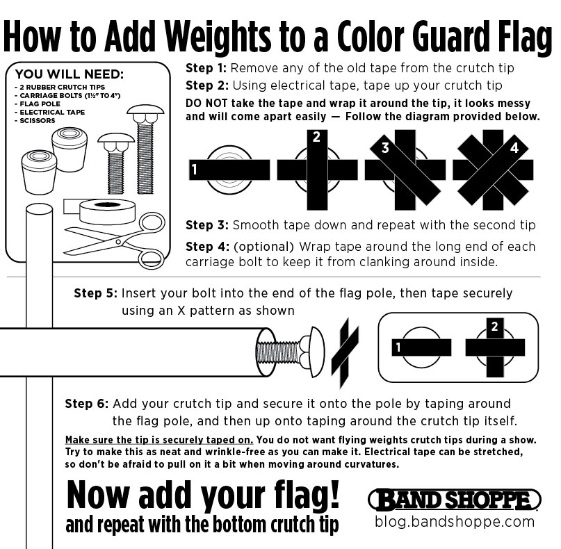Flag Basics / Installment 4: Pole Weights – Band Shoppe
