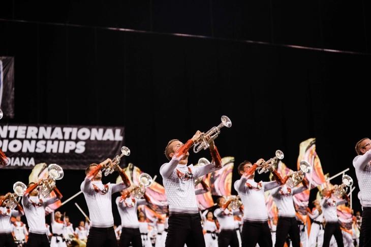 Santa Clara Vanguard brass performs at DCI World Finals