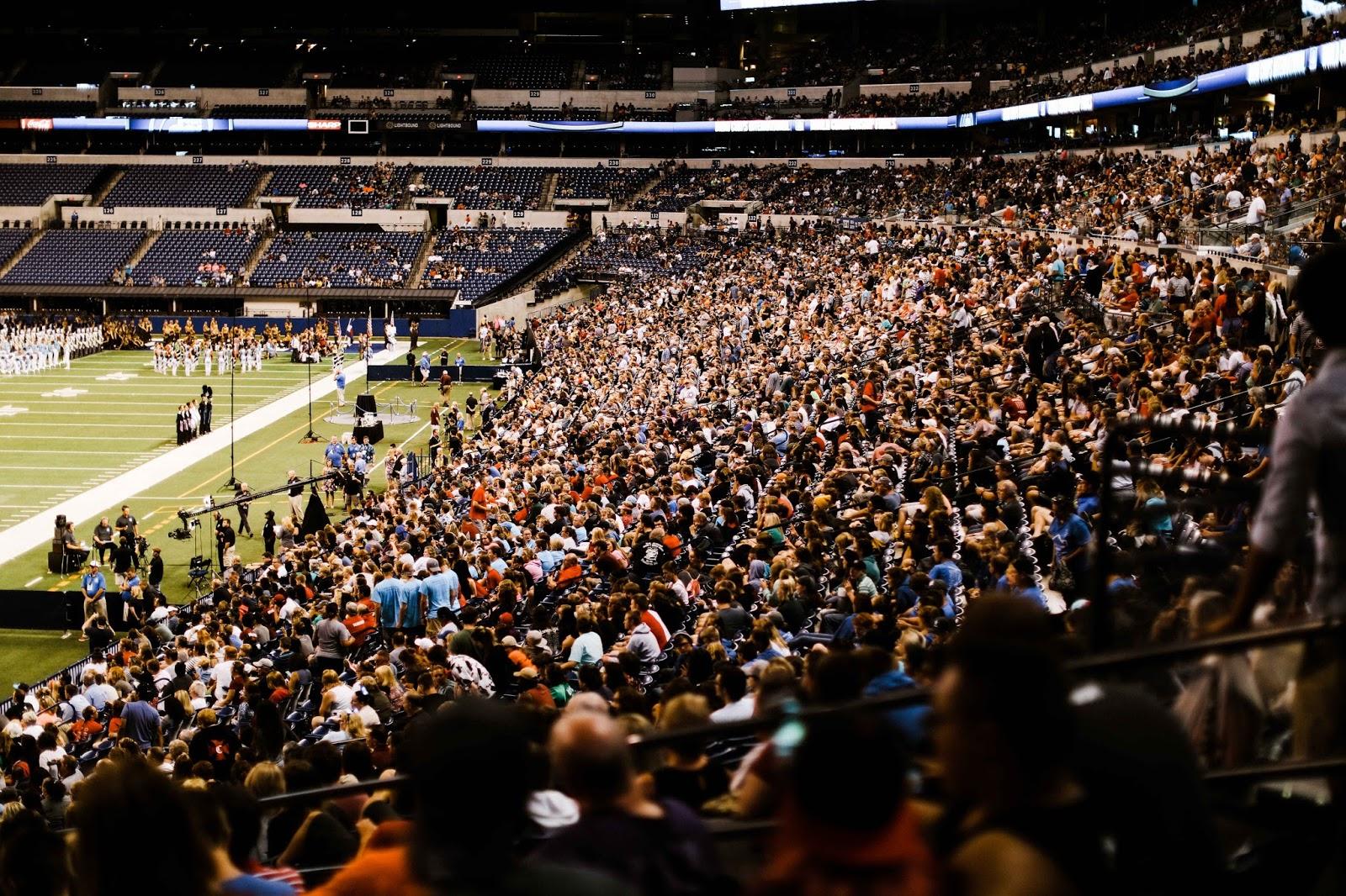 Crowds fill Lucas Oil Stadium at DCI World Finals