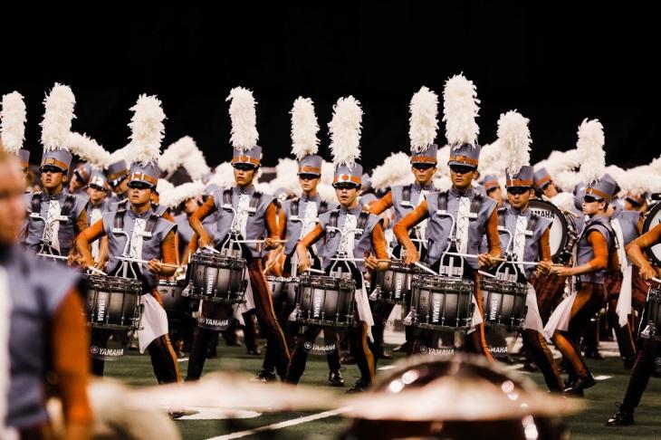 Boston Crusaders' drumline performs at DCI World Finals