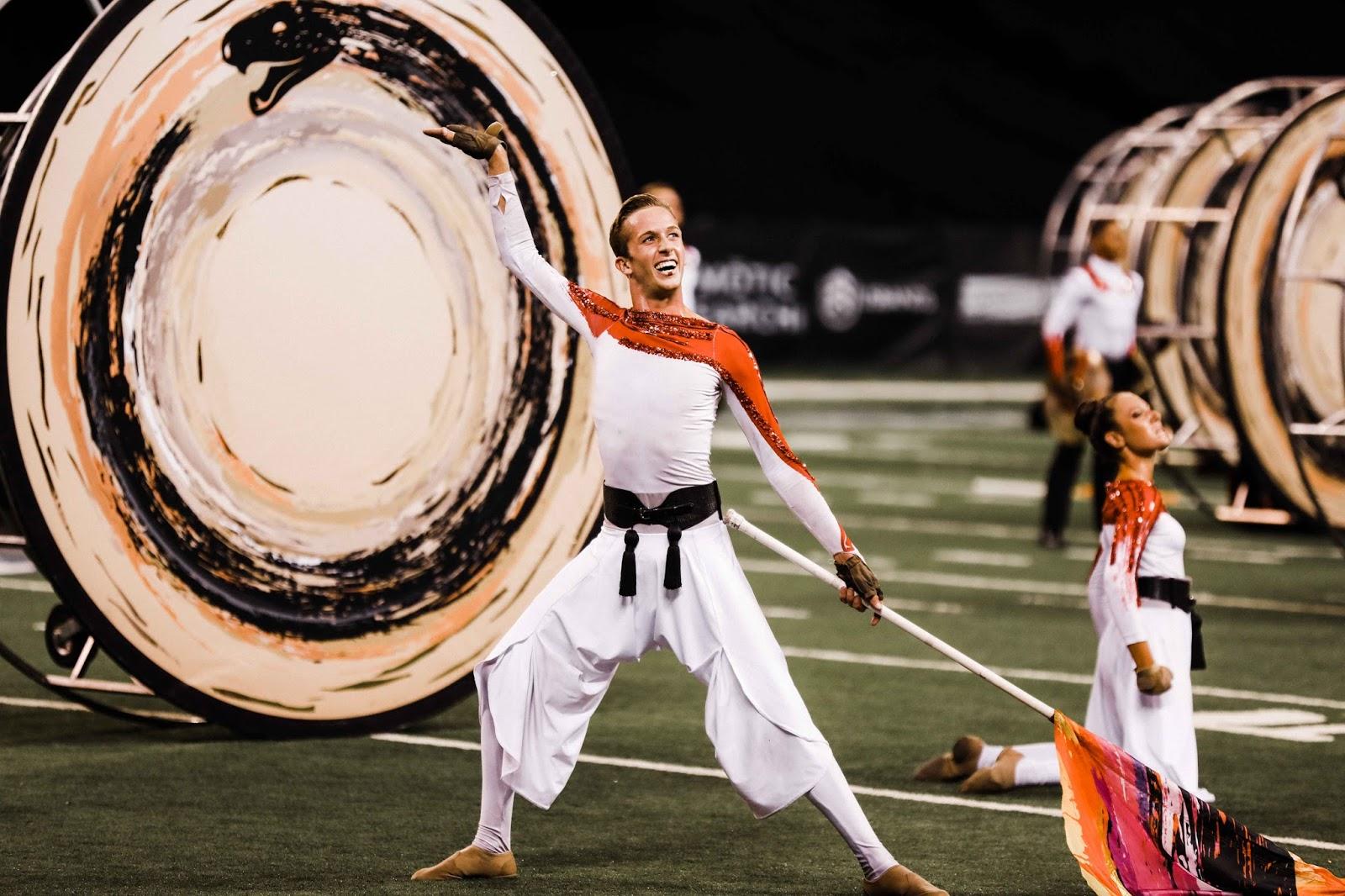 Santa Clara Vanguard Guard Performs at Lucas Oil Stadium